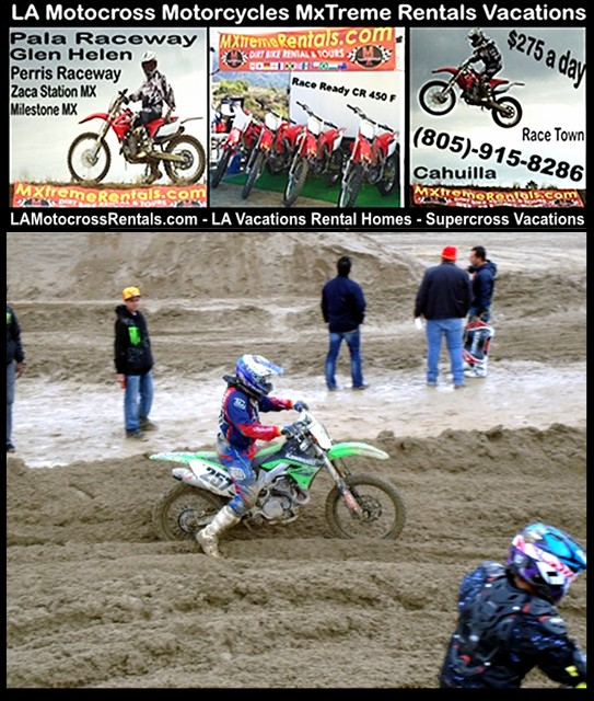 LA Motocross Rentals - Super Cross Vacations - 805-915-8286 -http://lamotocrossrentals.com/lancaster-la-motocross-rentals-super-cross-vacations-2.jpg - LA MxTreme Rentals- Los Angeles Dirt Bike Vacations - Simi Valley, CA 93063 - New Honda 2011 CRF 450 fuel injection - ranges from beginner to expert level. - Lancaster - Romona - Los Angeles